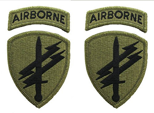 Civil Affairs Psychological Operations Patch and Airborne Tab - 2 PACK