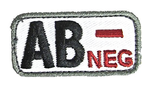 AB NEGATIVE Blood Type Patch - MEDICAL