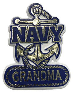 Navy Anchor Grandma Small Cut-Out Magnet