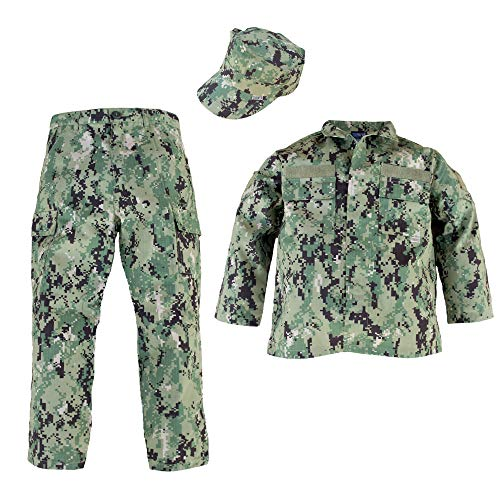 Kids Navy Uniform - Woodland NWU Type III Uniform 3 Piece Set