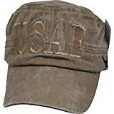 USAF Flat Top Hat - Washed Coyote Brown