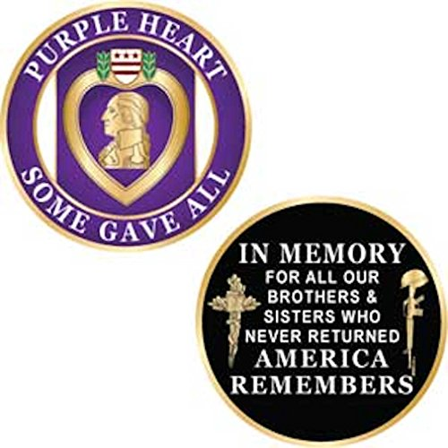 Purple Heart Challenge Coin - 1-3/4
