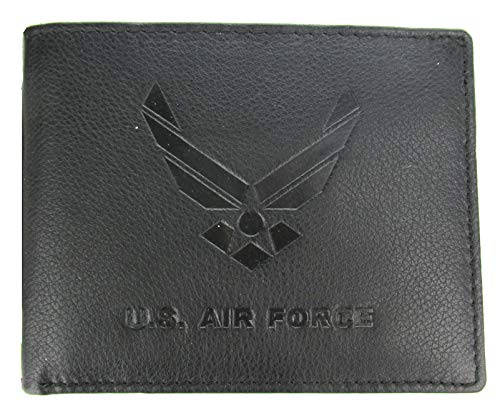 U.S. Air Force Wing Logo Bi-Fold Leather Wallet