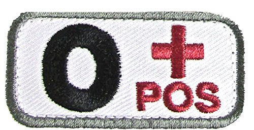 O POSITIVE Blood Type Patch - MEDICAL