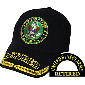 United States Army Retired Black Hat Cap USA