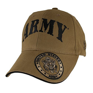 U.S. Army Seal Hat - Coyote Brown Baseball Cap