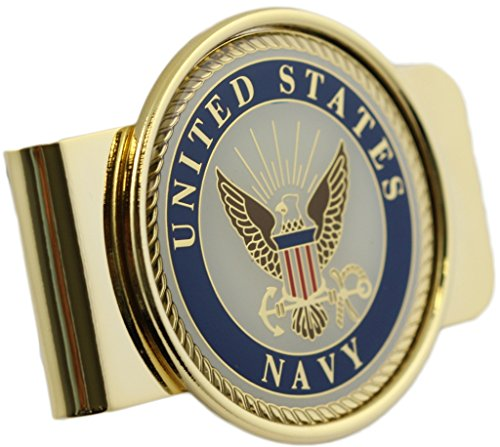 US Navy Logo Money Clip - Military Money Clip