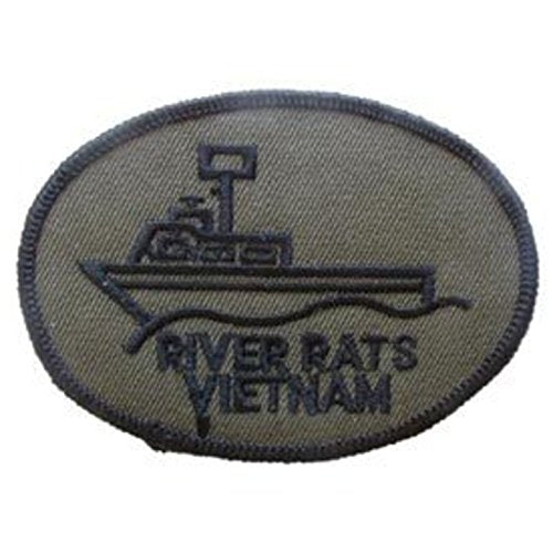 Eagle Emblems PM0019 Patch-Vietnam,River Rats (Subdued) 3 inch