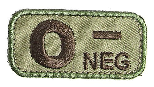 Blood Type Patches - Mil-Spec Monkey MULTICAM (O- NEGATIVE)