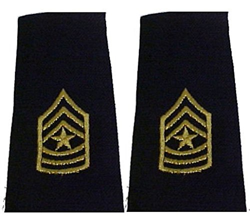 Army Uniform Epaulets - Shoulder Boards E-9 SERGEANT MAJOR