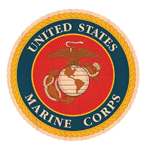 Mitchell Proffitt United States Marine Corps Crest Wooden Sticker