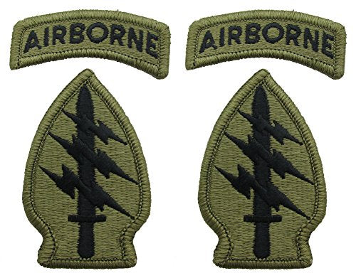 Special Forces Group OCP Patch with Airborne Tab - 2 PACK