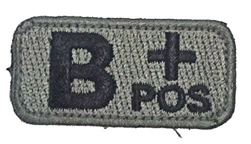 B POSITIVE Blood Type Patch - FOLIAGE GREEN