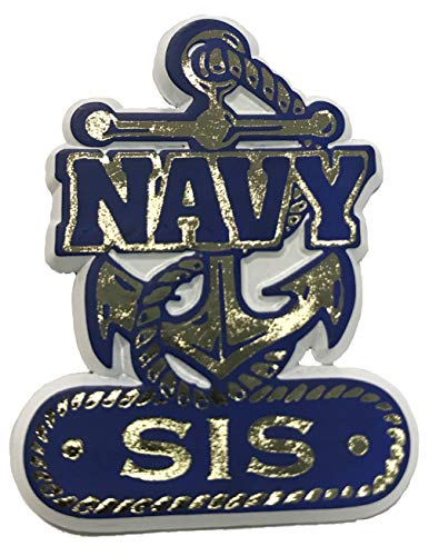 Navy Anchor Sis Small Cut-Out Magnet