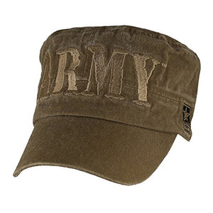 U.S. ARMY Flat Top Hat, Washed Coyote Brown
