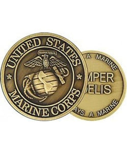 United States Marine Corps, Semper Fidelis, 2 Sided Bronze Challenge Coin (HMC 22300)