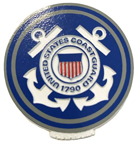 United States Coast Guard Crest Small Round Magnet