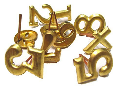 Civil War Brass Hat Insignia - REGIMENTAL NUMERALS