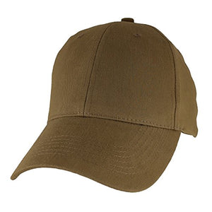 Blank Baseball Hat, Coyote Brown