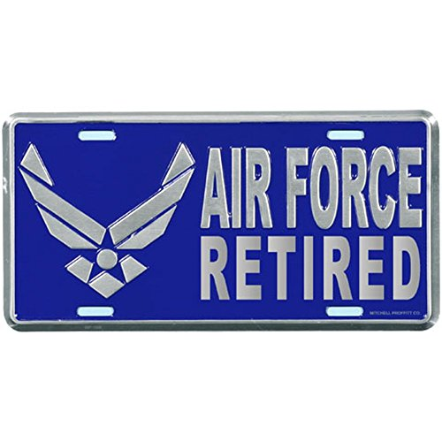 Honor Country Air Force Retired License Plate