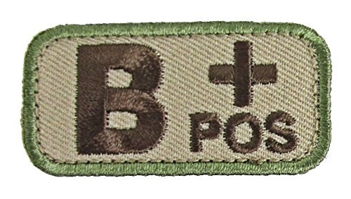 B POSITIVE Blood Type Patch - MULTICAM OCP