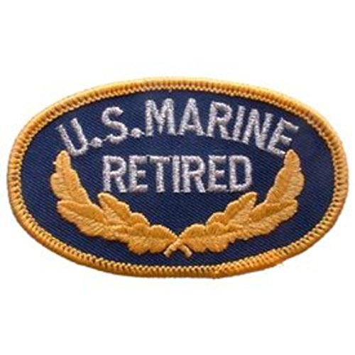 Eagle Emblems PM0109 Patch-USMC,Oval,Veteran (3.5 inch)