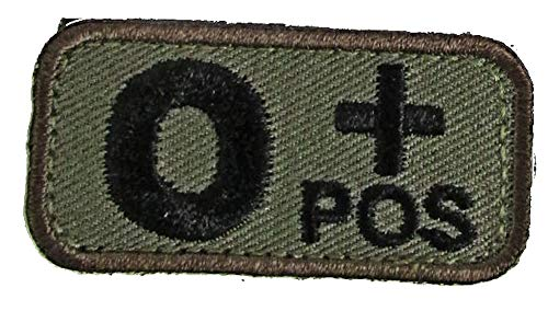 O POSITIVE Blood Type Patch - WOODLAND