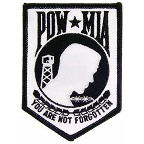 Eagle Emblems PM0118 Patch-Powmia (White) (3.5 inch)