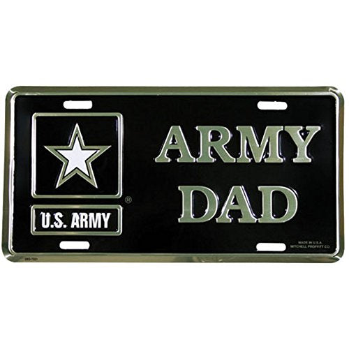 Honor Country Army Dad License Plate