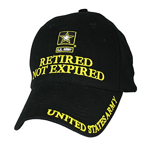 Eagle Crest U.S. Army Retired Not Expired Baseball Cap. Black