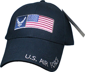 U.S. Air Force American Flag Baseball Cap, Dark Navy, One Size Fits Most