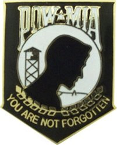 POW-MIA Black Large Pin
