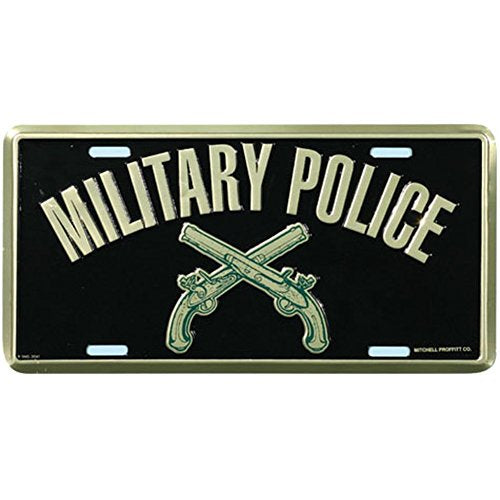 Honor Country Military Police License Plate