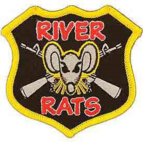 Eagle Emblems PM0016 Patch-Vietnam,River Rats 3 inch