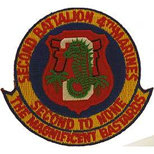 Eagle Emblems PM0279 Patch-Usmc,02ND BN 4TH (3-3/8 inch)