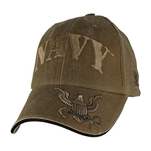 U.S. Navy Insignia Hat - USN Coyote Brown Washed Cap