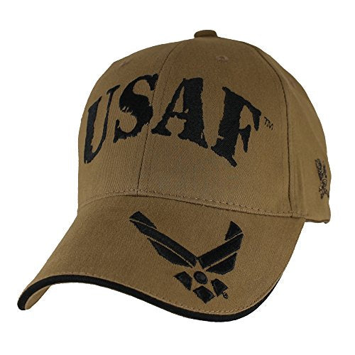 USAF w/ Hap Arnold Wings Baseball Hat, Coyote Brown