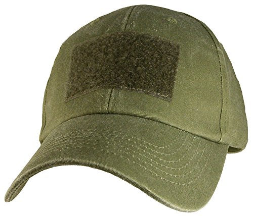 OD Green Hook & Loop Front Patch Hat / OD Green Baseball Cap