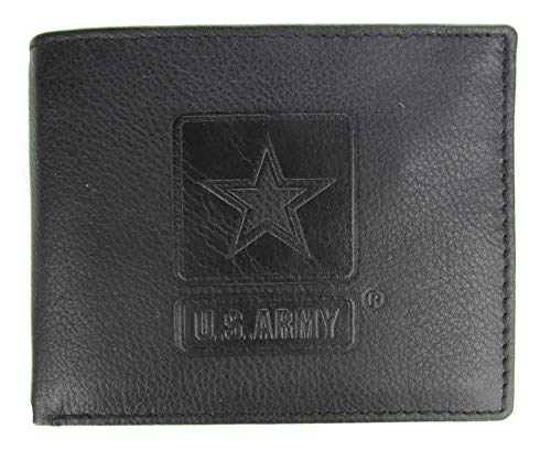 Army Star Bi-Fold Leather Wallet