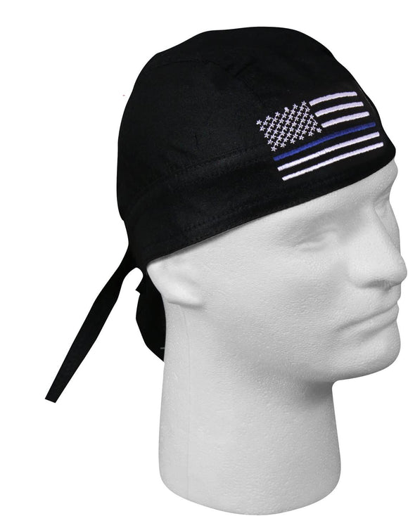 Rothco Thin Blue Line Flag Headwrap Bandana