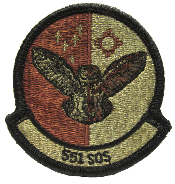 551st Special Operations Squadron OCP Patch - Spice Brown