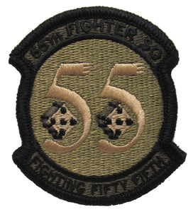 55th Fighter Squadron OCP Patch - Spice Brown