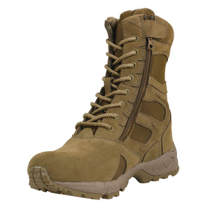 Rothco Forced Entry Deployment Boots With Zipper - AR670-1 Coyote Brown