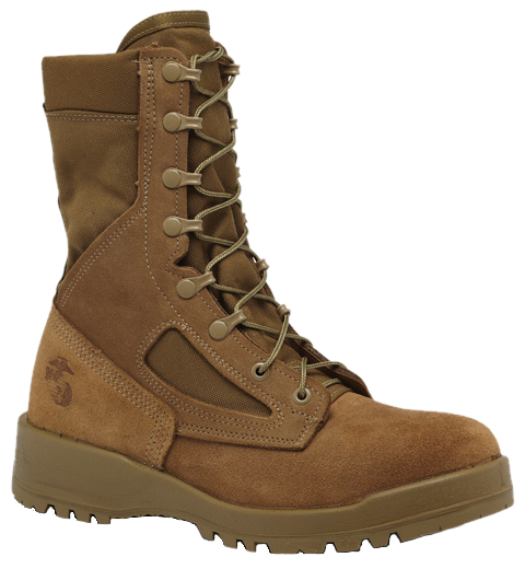 Bellevile 550 ST Men's USMC Hot Weather Steel Toe Boots (EGA) - Coyote