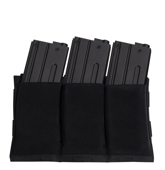 Rothco Lightweight 3Mag Elastic Retention Pouch Black
