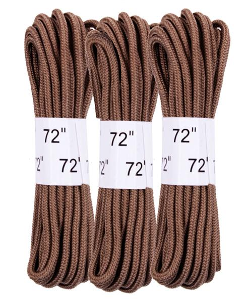 Rothco 72 Inch Boot Laces - 3 Pack Coyote Brown