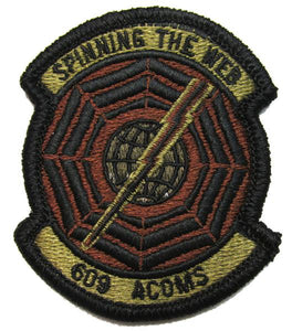 609th Air Communications Squadron OCP Patch - Spice Brown