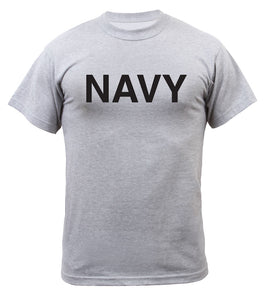 Rothco Grey Physical Training T-Shirt - NAVY
