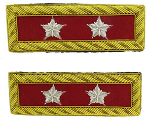 MAJOR GENERAL Reproduction ARTILLERY Officer Civil War Shoulder Board Rank for Reenactors