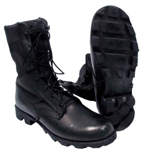 U.S. Military Jungle Boots - BLACK  - Closeout Buy Now and Save